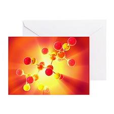 Glucose sugar molecule - Greeting Cards (Pk of 10)