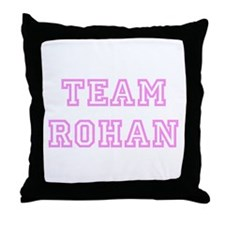 Pink team Rohan Throw Pillow