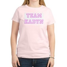 Pink team Kadyn Women's Pink T-Shirt