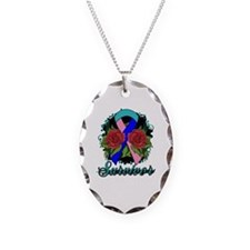 Thyroid Cancer Survivor Rose Tattoo Necklace