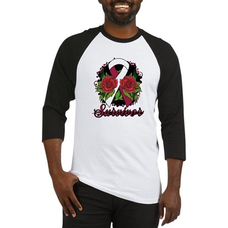 Throat Cancer Survivor Tattoo Baseball Jersey