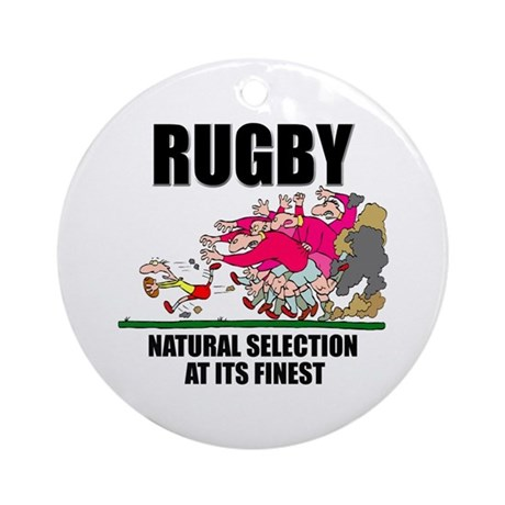 Natural Selection Rugby Ornament (Round)