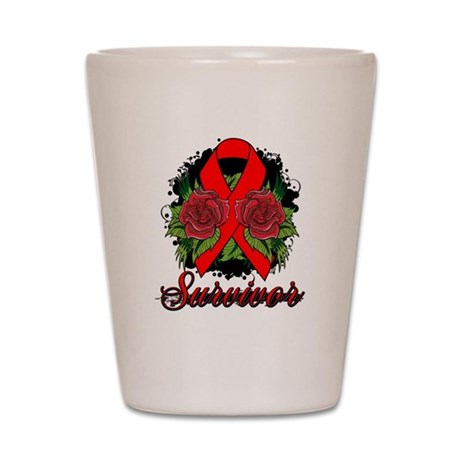 Stroke Survivor Tattoo Shot Glass