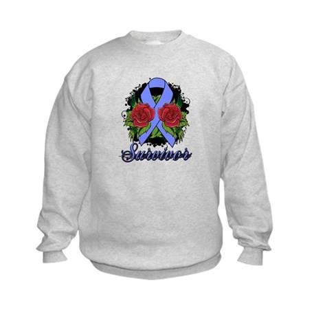 Stomach Cancer Survivor Tattoo Kids Sweatshirt