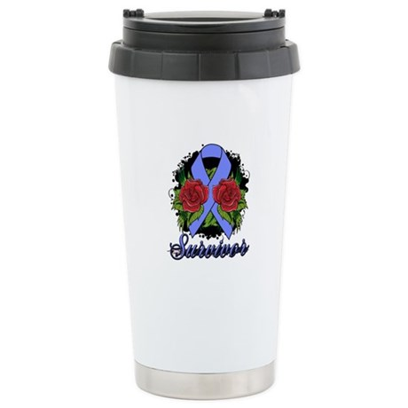 Stomach Cancer Survivor Tattoo Ceramic Travel Mug