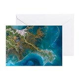 Mississippi Delta, satellite image - Greeting Card