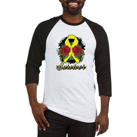 Sarcoma Survivor Tattoo Baseball Jersey