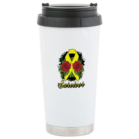 Sarcoma Survivor Tattoo Ceramic Travel Mug