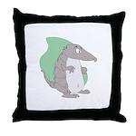 Goofy Armadillo Throw Pillow