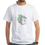Goofy Armadillo White T-Shirt