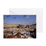 View of a waste landfill site - Greeting Cards (Pk