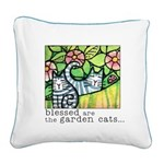 GARDEN CATS Canvas Art Pillow by Susan Faye