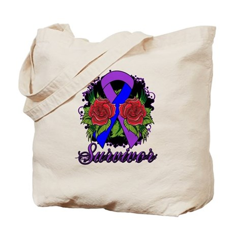Rheumatoid Arthritis Survivor Tattoo Tote Bag