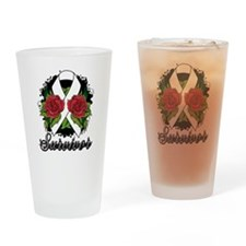 Retinoblastoma Survivor Tattoo Drinking Glass
