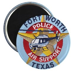"""Fort Worth PD Air Unit 2.25"""" Magnet (10 pack)"""