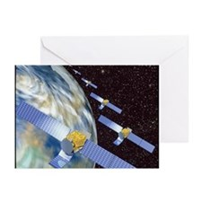 Communication satellites - Greeting Cards (Pk of 1