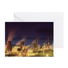 Petrochemical plant - Greeting Cards (Pk of 10)