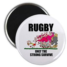 Only The Strong Rugby Magnet