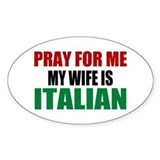 Pray Wife Italian Decal