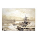 Ship stuck in Antarctic ice, artwork - Postcards (