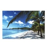Beach with palm trees - Postcards (Pk of 8)
