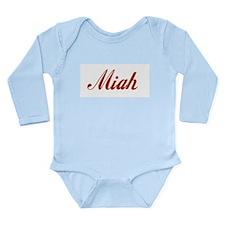 Miah name Long Sleeve Infant Bodysuit