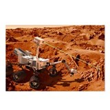 Curiosity rover on Mars, artwork - Postcards (Pk o