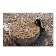 Drying cow dung for fuel - Postcards (Pk of 8)