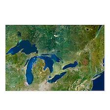 Great Lakes, satellite image - Postcards (Pk of 8)