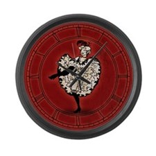 Cancan Dancer Large Wall Clock