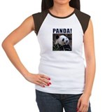 Women's Panda Cap Sleeve T-Shirt