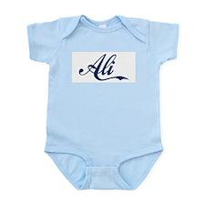 Ali name (Blue) Infant Bodysuit