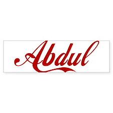Abdul name Bumper Sticker