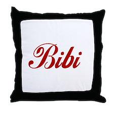 Bibi name Throw Pillow