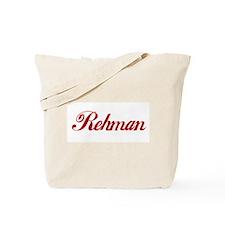Rehman name Tote Bag