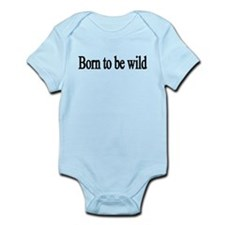 born to be wild-black Infant Bodysuit