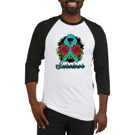 Ovarian Cancer Survivor Tattoo Baseball Jersey