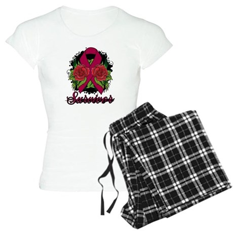 Multiple Myeloma Survivor Rose Tattoo Women's Ligh