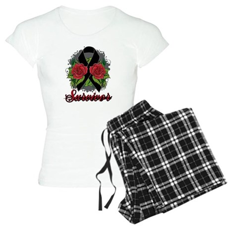 Melanoma Survivor Rose Tattoo Women's Light Pajama
