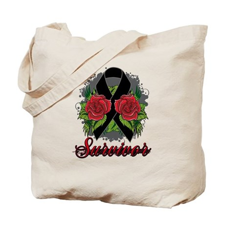 Melanoma Survivor Rose Tattoo Tote Bag