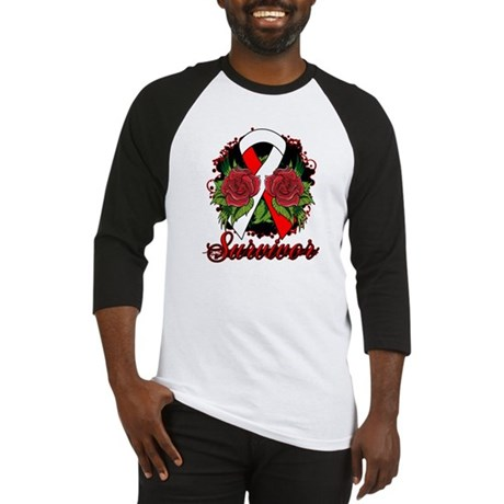 MDS Survivor Rose Tattoo Baseball Jersey