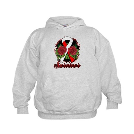 MDS Survivor Rose Tattoo Kids Hoodie