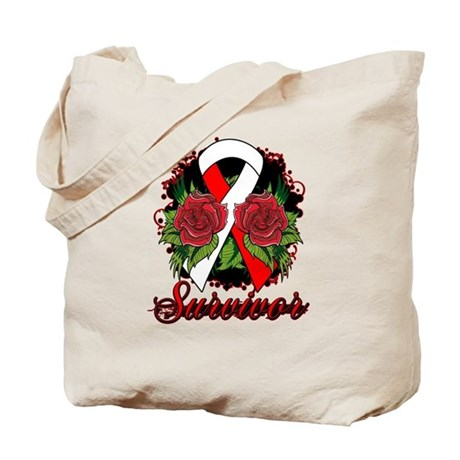 MDS Survivor Rose Tattoo Tote Bag