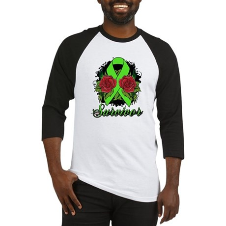 Lymphoma Survivor Rose Tattoo Baseball Jersey