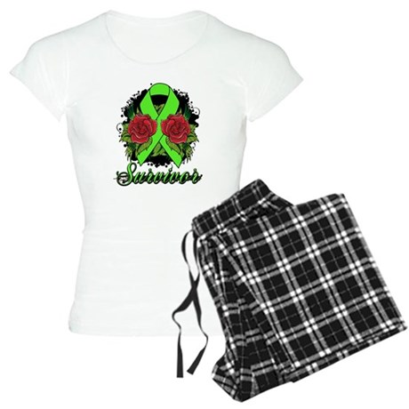 Lymphoma Survivor Rose Tattoo Women's Light Pajama