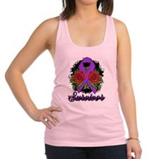Lupus Survivor Rose Tattoo Racerback Tank Top