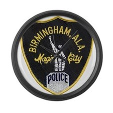 Birmingham Police patch Large Wall Clock
