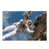 Astronaut Fuglesang performing spacewalk - Postcar