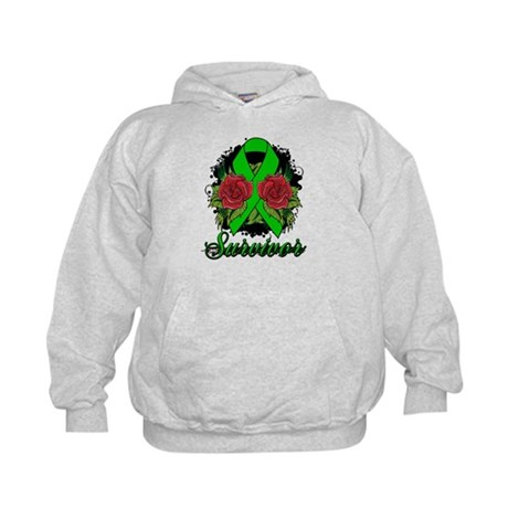 Kidney Disease Survivor Rose Tattoo Kids Hoodie