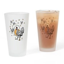 Cute Rooster Drinking Glass